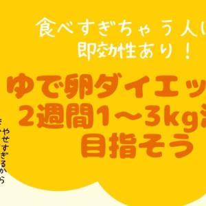 ゆで卵を朝食に追加するだけで即やせる!安心ダイエット方法で目指せ2kg減
