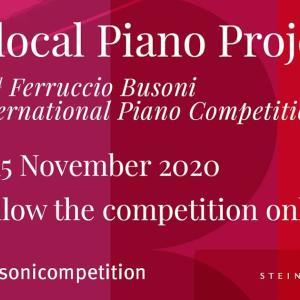 ブゾーニ・ピアノコンクール Glocal 予選もうすぐ 11月7〜15日 ♪