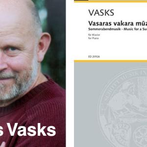 "Pēteris Vasks のピアノ曲 ""Music for a Summer Evening"" いい感じ ♪"