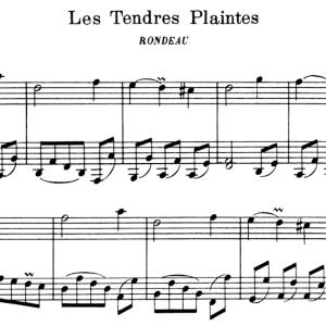 次のピアノ練習はラモー Les Tendres Plaintes(やさしい訴え)♪