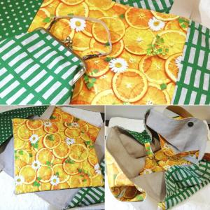 *柑橘香るフレッシュなトートバッグ*