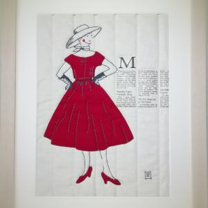 *赤いドレスのサマーガール*