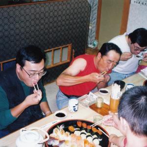 富良野駅前の特大寿司