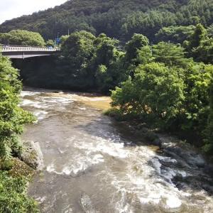 安比川と馬淵川の合流点