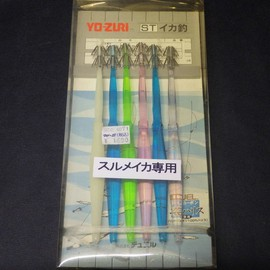 YO-ZURI イカ釣 スクイッド針 SQ2-6 スルメイカ専用 サイズ18cm ハリス12号3cm 6本