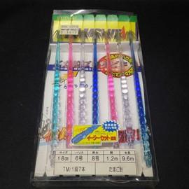 YAMASHITA イカ釣プロサビキ イージーセット採用 たまご針 サイズ18cm ハリス6号