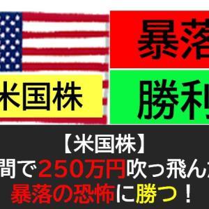 【米国株】1週間で250万円吹っ飛んだ!暴落の恐怖に勝つ!