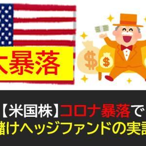 【米国株】コロナ暴落で大儲けヘッジファンドの実話!投資家は学ぶことが多い!