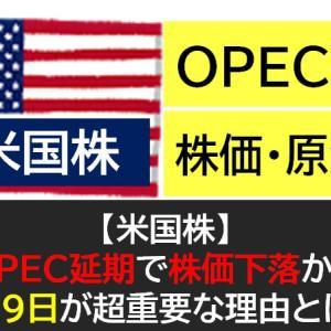 【米国株】OPEC延期で株価下落か?4月9日は原油価格とコロナにとって超重要!(週間投資実績)