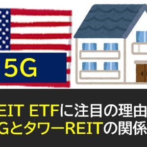 米国REIT ETFに注目の理由!5GとタワーREITの関係性