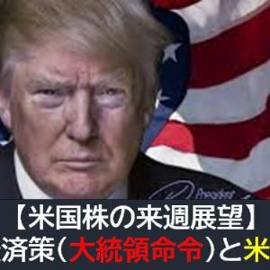 【米国株の来週展望】追加経済策(大統領命令)と米中関係に注目!炭鉱のカナリアは?