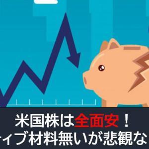 米国株は全面安!ポジティブ材料無いが悲観必要なし!?