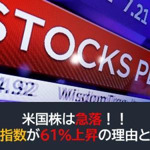 米国株は急落!VIXが61%上昇の理由とは?