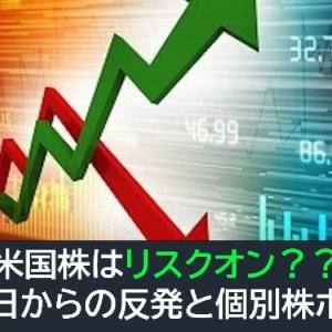 米国株はリスクオン?昨日からの反発と個別株ボラ
