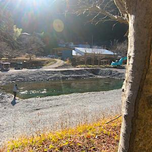 小菅川冬季ニジマス釣り場へフライフィッシングに行ってきた