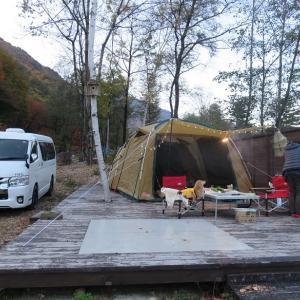 11月秋キャンプ アヒージョと信州牛とチーズフォンデュ