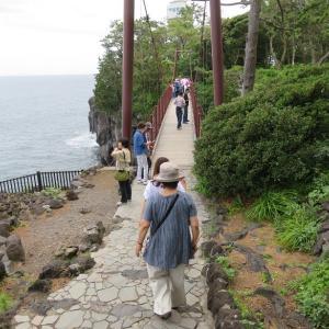 城ケ崎の吊り橋見たら伊豆高原のペット宿かざみどりへ