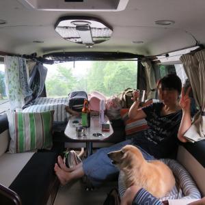 避暑地へ車中泊旅 雷が怖い犬と車中泊