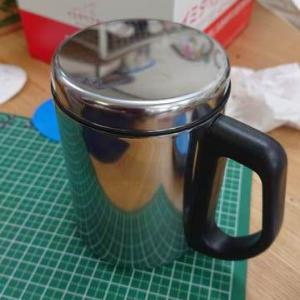 DAISOの蓋つきカップに名前入れ