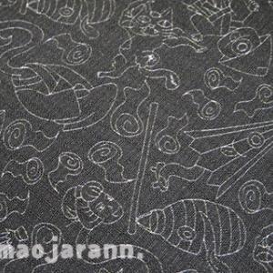 サロンドハピネスさんの江戸小紋もどき『妖怪』が仕立て上がりました。