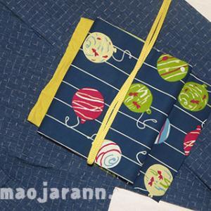 自分で仕立てた阿波しじらを手拭い付け帯で着てみました&しばらくブログお休みします。