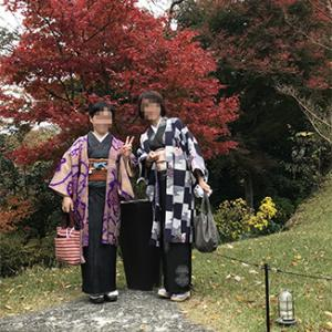 ウチの義妹とお友だち、初めての着物旅で箱根に行ったった!