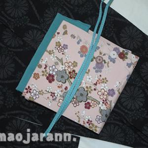 寒い日のお出掛け。真綿系紬と梅柄の染め名古屋帯。