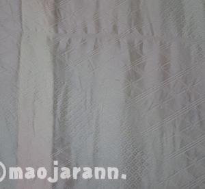 正絹長襦袢をお洗濯した。