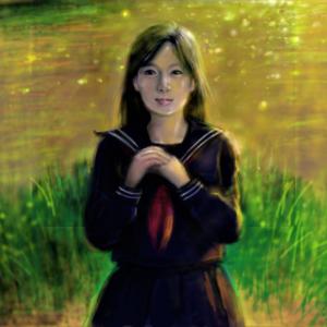 秋色 セーラー少女