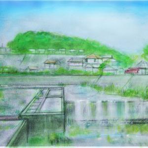 用水路のある風景
