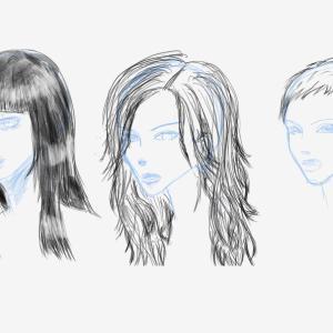 Day-36 ふんわり毛先で遊びたいから髪の毛の練習