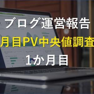【運営報告】ブログ一か月目初心者13名のPV中央値【自身の運営報告付き】