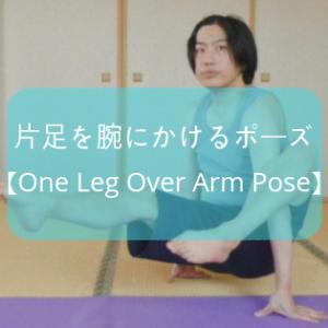 【ヨガ】アームバランス「片足を腕にかけるポーズ」のやり方と練習方法をレポート