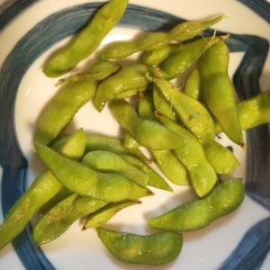 家庭菜園で枝豆が採れたYO