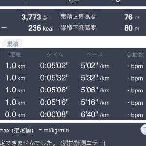 練習7/15(水)10km  19(日)7km