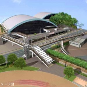 手柄山中央公園に歩道橋ができるみたい!連絡通路【体育館⇔野球場】で安全に移動