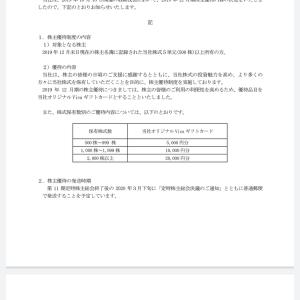 コーア商事(9273)より、6月権利のクオカードが届きました☺️