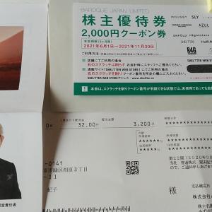 バロックジャパン(3548)から2月権利のお買い物券が届きました☺