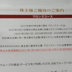 KADOKAWA(9468)から3月権利のカタログが届きました☺