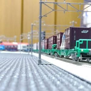 Nゲージ 1915 EH500 & コキ250000 3057列車風に