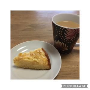娘と作ったケーキで朝ごはん♡