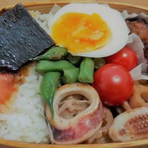 イカとレンコンの生姜炒め弁当