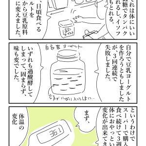 豆乳ヨーグルトを食べたら体温低下した