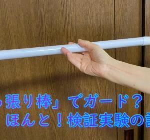 こんな棒1本でガードできると! 検証実験①設置