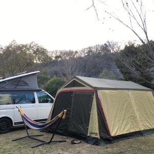 キャンプ46 '20.2/1-2 ーアップグレードした装備で冬キャンプ @しあわせの村オートキャンプ場ー
