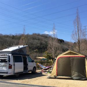 キャンプ47 '20.3/20-21 ーハンモック in 鉄骨で快適空間完成! ただ寝るには背中が寒過ぎた…ー