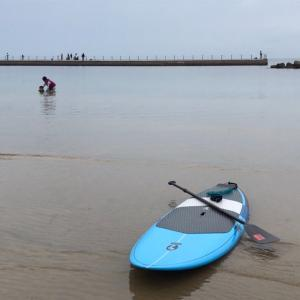 SUPで海上散歩してリラックスタイム @多賀の浜海水浴場【淡路島】