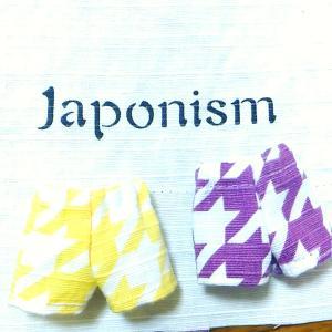 Japonismの風呂敷で園児ドールのパンツ