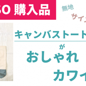 【330円】ダイソーの無地キャンバストートがおしゃれなんですけど〜。エコバッグやインテリアにもおすすめ。