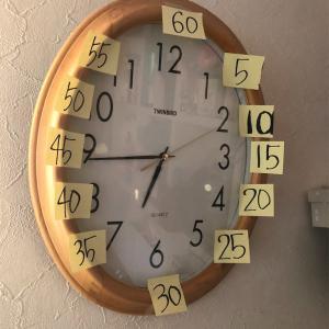 時計を読む練習を始める
